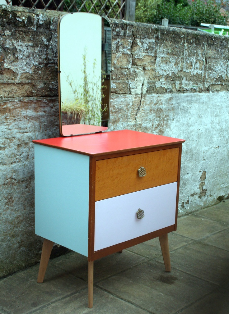 22 best Retro vintage bedside tables images on Pinterest Bedside