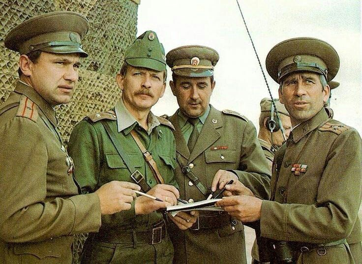 ce3f45443 Soviet, Hungarian and Bulgarian officers during Warsaw Pact training ...