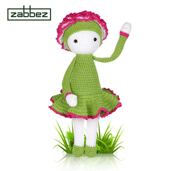 Amigurumi flower doll Carnation Cati - crochet pattern by Zabbez