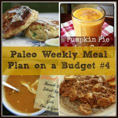 Paleo Weekly Meal Plan on a Budget #4 | for more meal plans go to www.thepaleomama.com