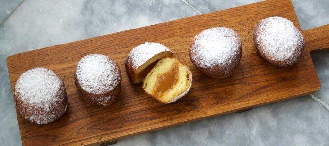 Brioche Doughnuts with Caramelized Apple Compote