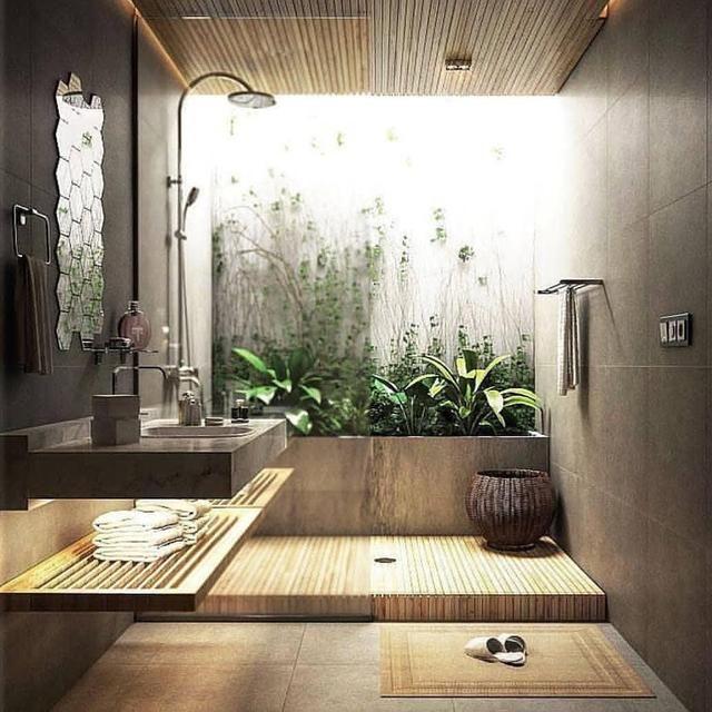 17 Trik Menghadirkan Taman Indoor Pada Rumah Ide Kamar Mandi Desain Interior Desain Interior Kamar Mandi