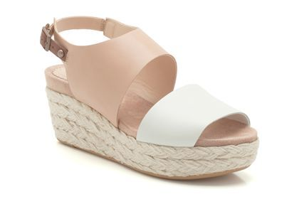 Womens Casual Sandals - Onslow Holly in White Leather from Clarks shoes