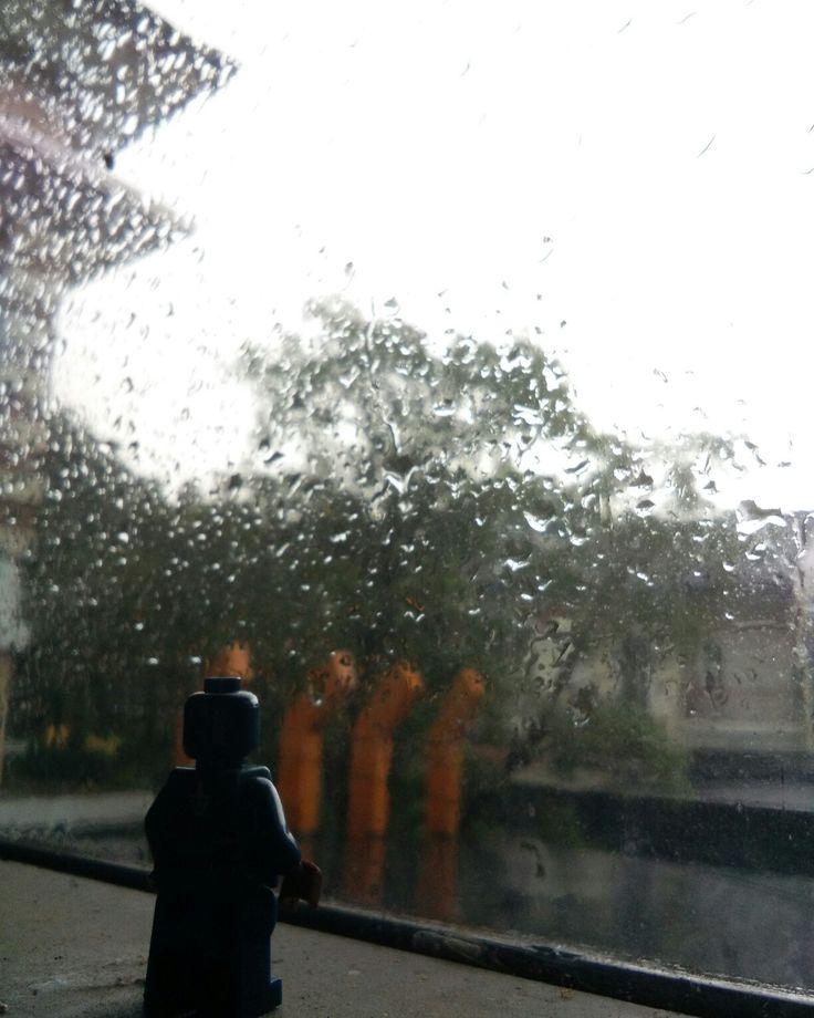 Lego Captain America in The Rain