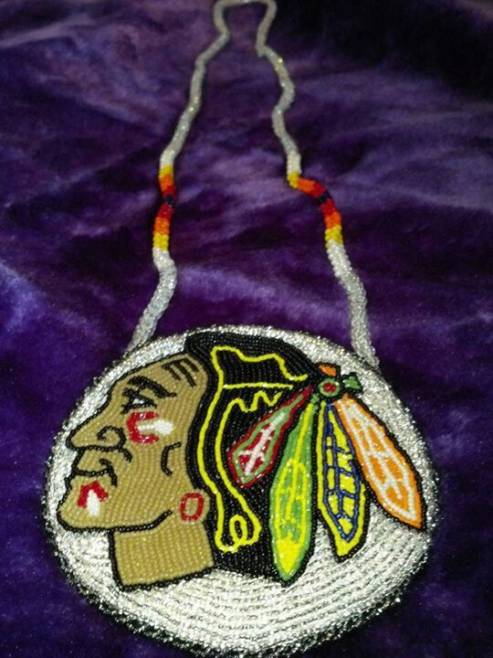 Blackhawks Medallion Beaded By Jon Anne Capasso My