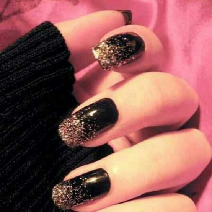 Black nail polish...