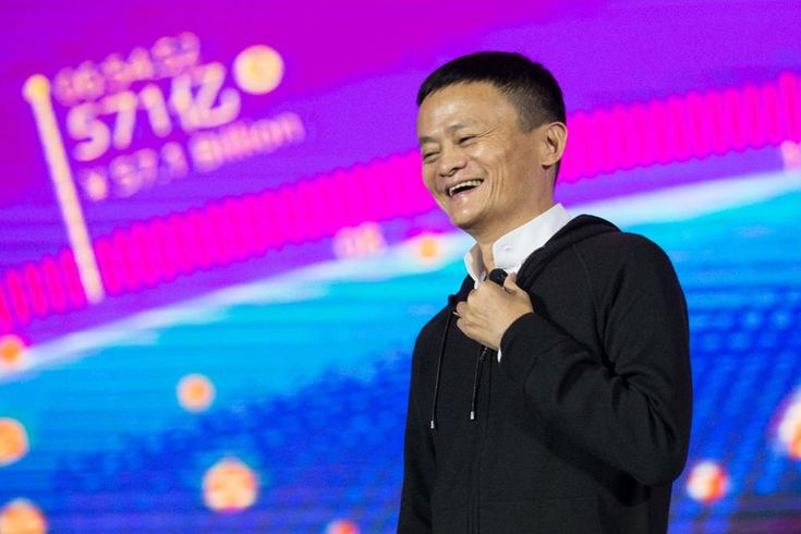 Alibaba Chairman Jack Ma speaks on stage during at the Tmall 11:11 Global Shopping Festival gala in Shenzhen, in south China's Guangdong province on November 11, 2016 (STR/AFP/Getty Images)