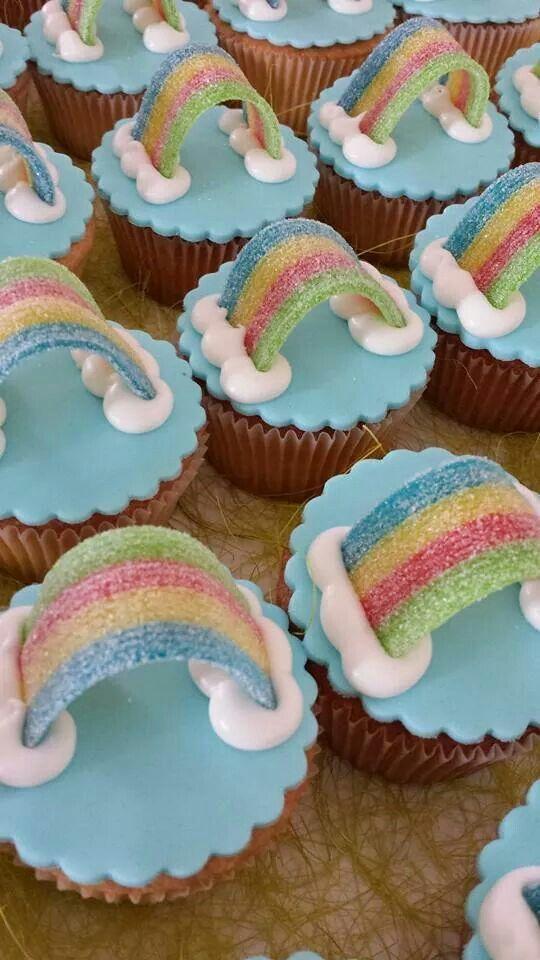 Regenboog cupcakes!