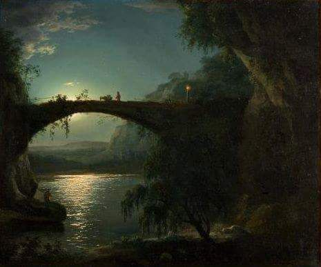 RT @HistoryOfColor:  Joseph Wright (1734-1797)  Landscape in the light of the moon (1785 approximately)  #AHistoryofArt  #Beauty #in https://t.co/c4Who4tXLc