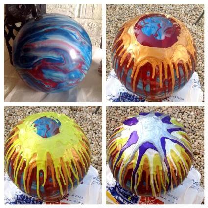 Wanda used nail polish on these, six colors...
