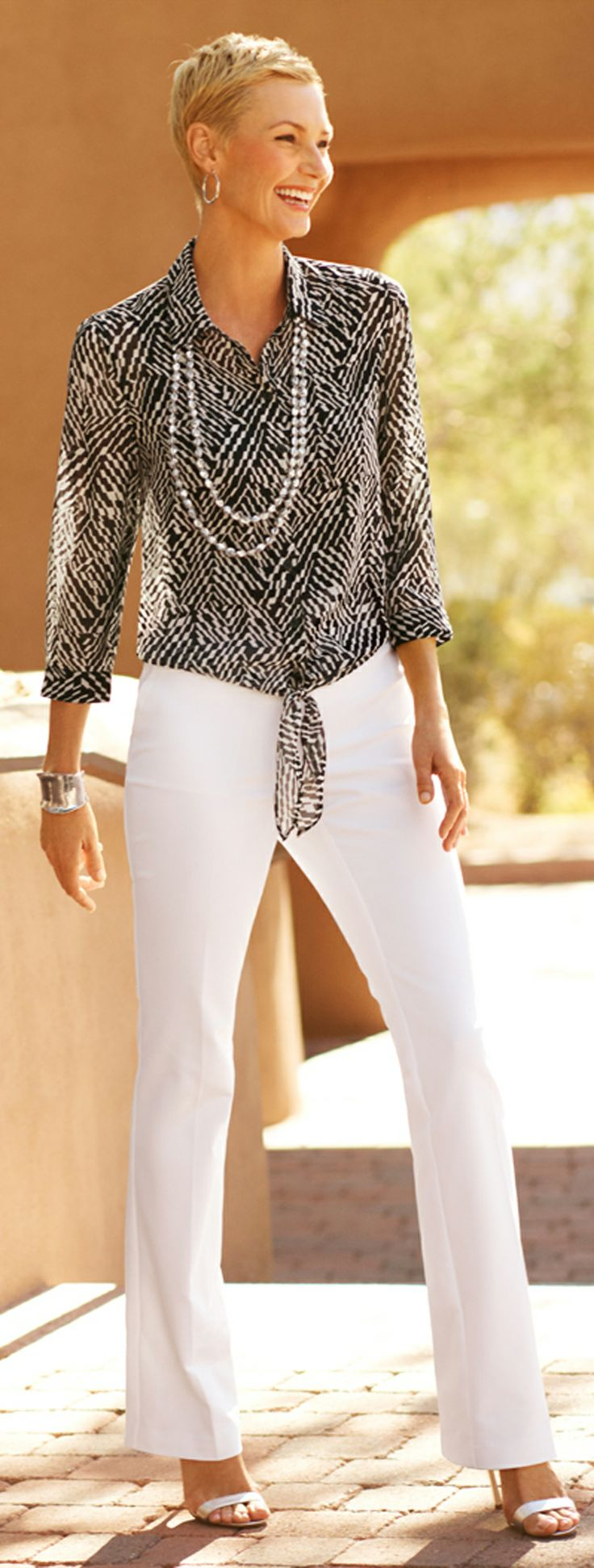 Keep it fresh with modern shapes, eye-catching prints, and fab jewels.