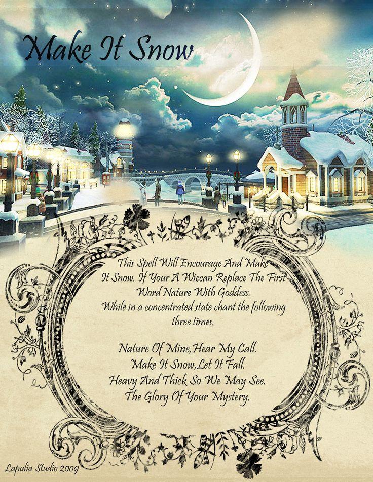 Magick Spells: Make It Snow #Spell.