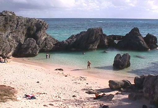I spent two years working in Bermuda. This is typical of the lovely unspoilt coves and beaches all over the tiny island.