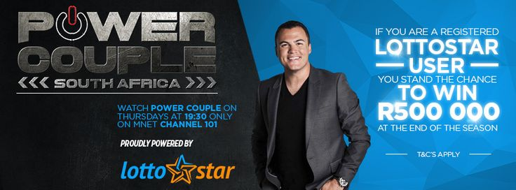 Get in on the action by playing the Lottostar Power Couple Contest. Just select your choice for the final winners and stand a chance of winning R500, 000 at the end of the show. Simply follow the link to enter: https://lottostar.co.za/PowerCoupleCompetition/