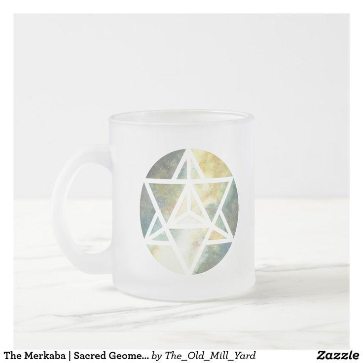 The Merkaba | Sacred Geometry | Frosted Coffee Mug by Kari Weatherbee