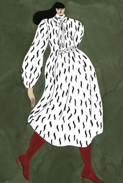 illustration - art - @stevenalan #springsummer #stevenalan #jumpsuit #fashionillustrated #fashionillustration #gouache #watercolor