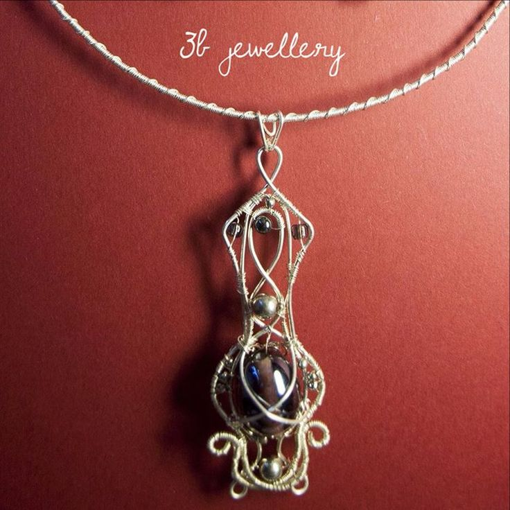 #baroque #inspired #pendant goes well with baroque #earrings #3bjewellery #wirewrapping #beginner