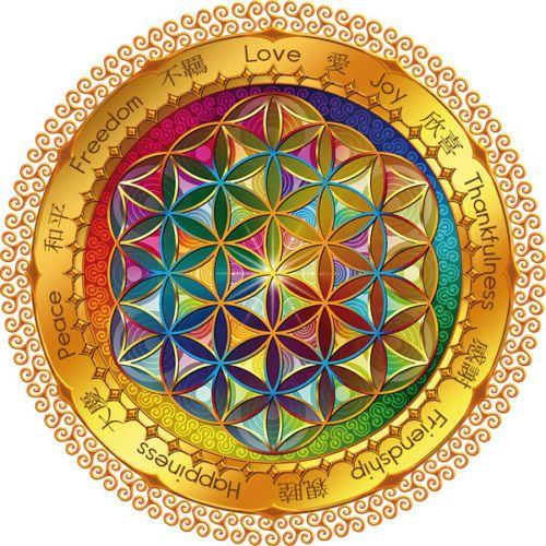 Flower of Life Sticker Window Decal Postcard Sacred Geometry Mandala Esoteric | eBay