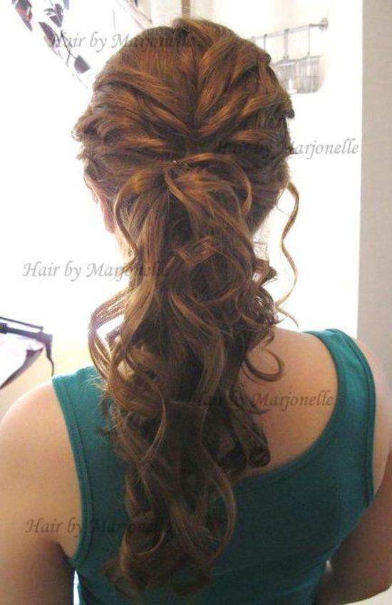 #brunet #braid #curly #hairstyle #bridesmaid #damas #peinado #boda #trenza