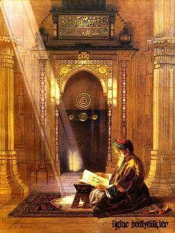 Osman Hamdi Kuran Okuyan Adam Kanvas Tuval Tablo