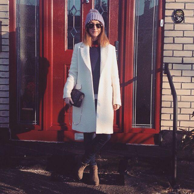 Winter Whites | ZARA car coat #MyStyle #WinterWhites