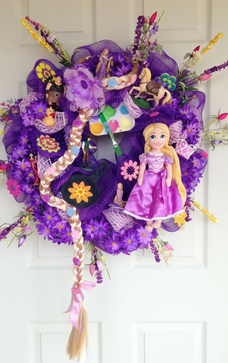 Tangled Rapunzel Disney Princess Wreath by SparkleForYourCastle, $159.00