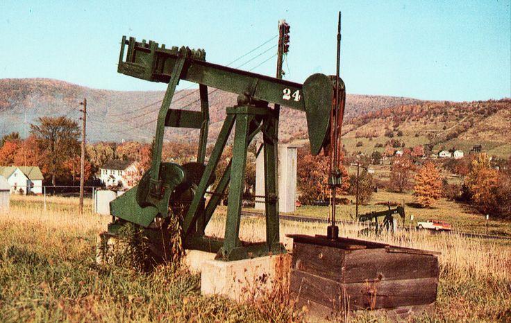 Pumping Jack near Bradford,Pennsylvania