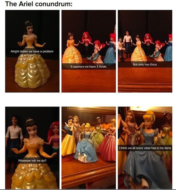 Disney Princess Snapchats Humor Pinterest Disney