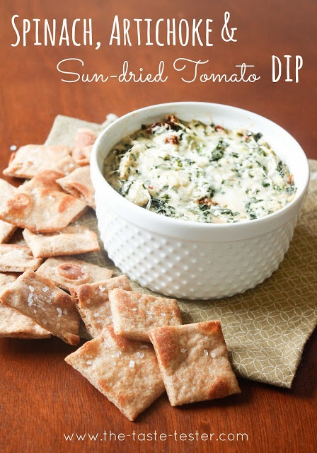 Spinach, Artichoke & Sun-dried Tomato Dip (A spin on the old classic ...