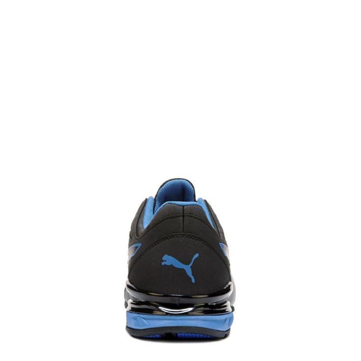 Puma Men's Tazon Modern Softfoam Running Shoes (Black/Blue)