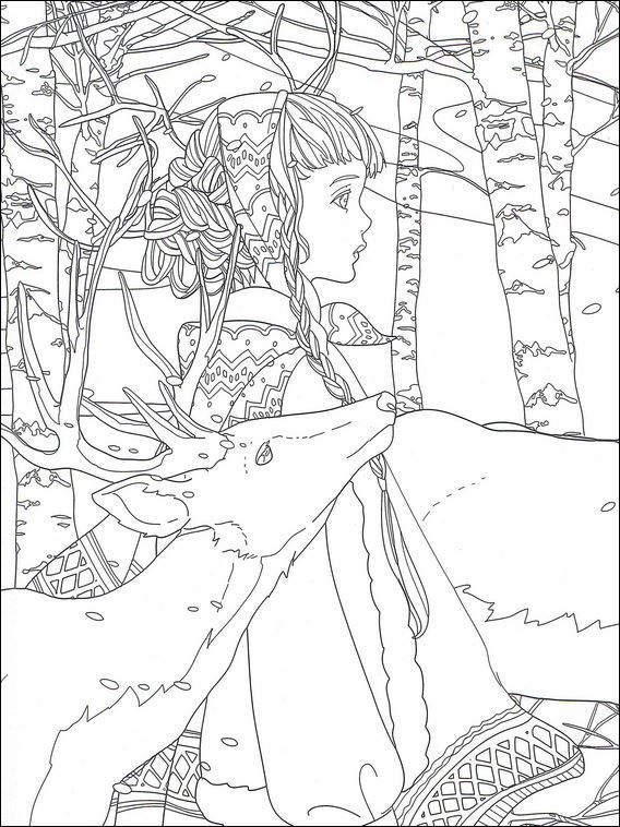 snow queen coloring pages 9 (with images) | snow queen