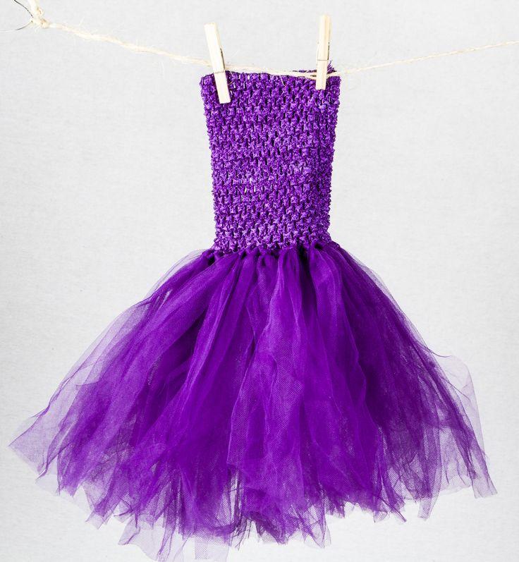 Purple tutu dress found at teablossomkids.com