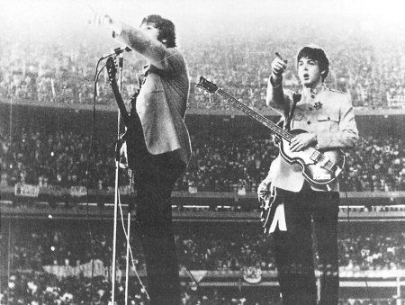 August 20, 1965: The Beatles perform their second show at White Sox Park in Chicago, Illinois