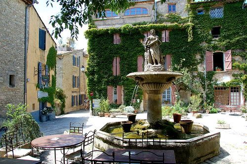 Saignon, France.  We've had wine, olives and cheese at that very table!