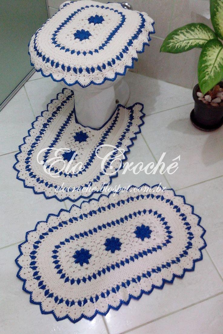 Jogo De Banheiro Azul Em Croche : Melhores ideias sobre jogo banheiro croche no
