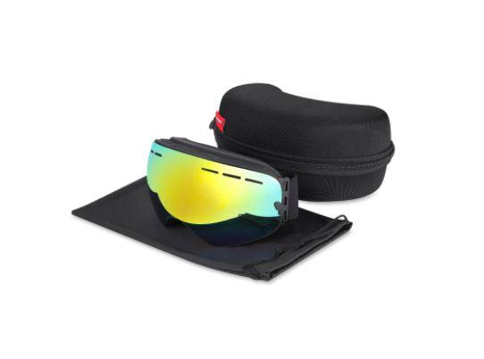 Gafas de Esquí Lente Dorada Snowboard UV 100% Polarizada