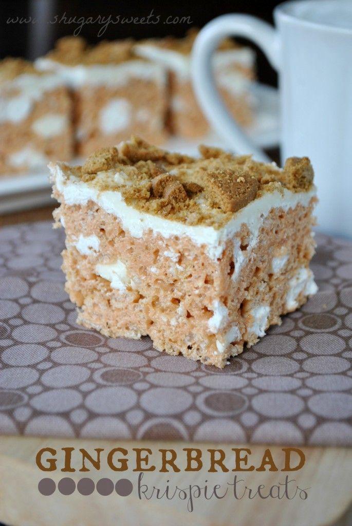 Gingerbread Rice Krispie Treats-