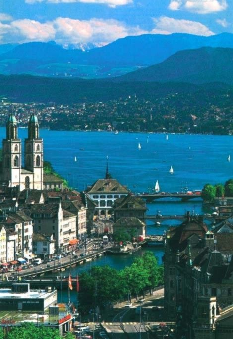 Zurich, Switzerland. Dream place -- just bought my ticket (!!!)