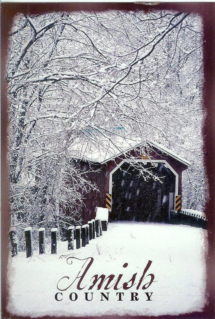 snowy covered bridge xoxo