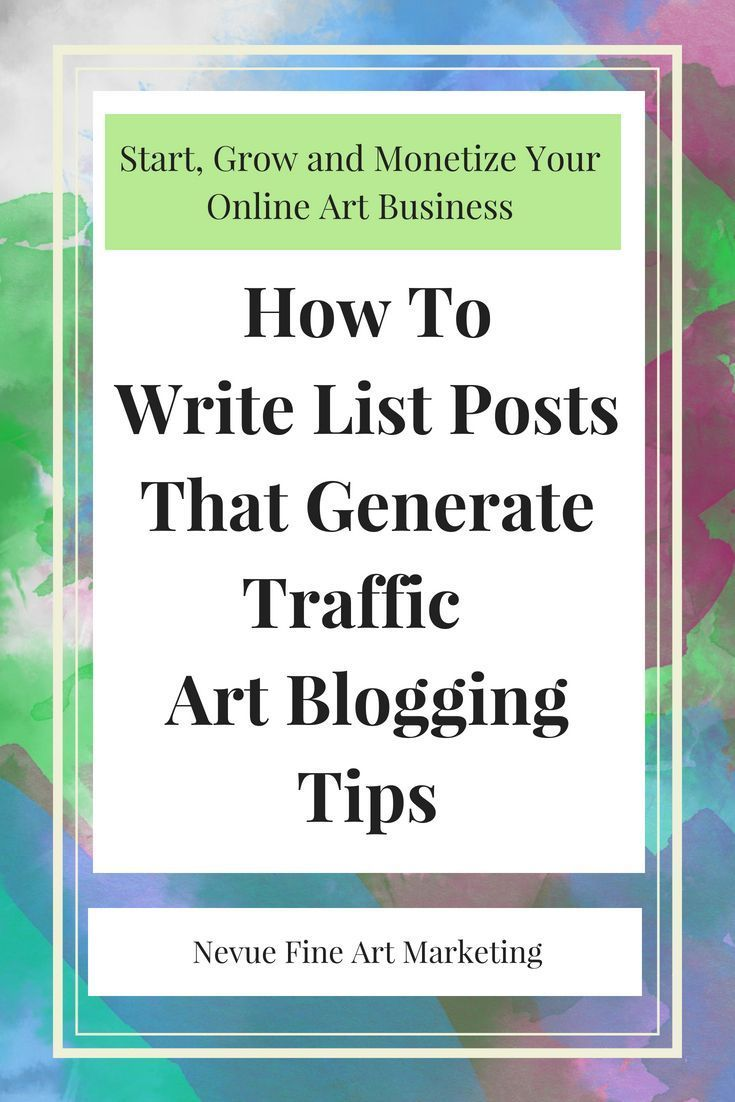 tips on how to write list posts that generate traffic to your site