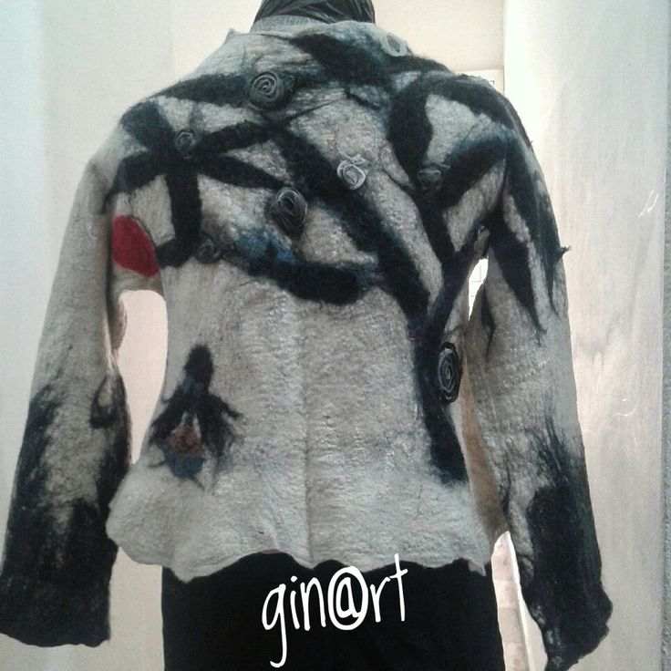 Nuno felted blouse..