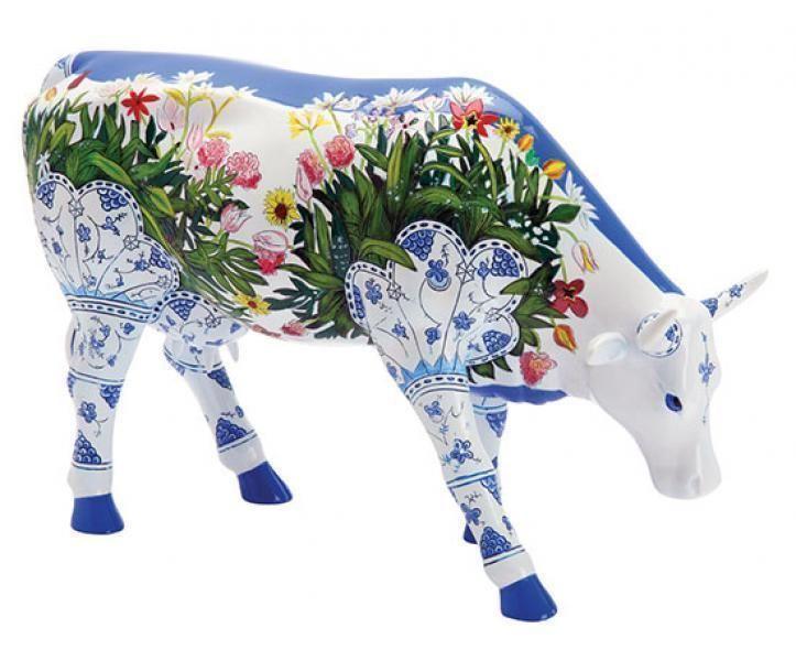Cowparade Koe Musselmalet  € 71,50 Kunstenaar:Ronald Burns  Ca. 20x 9 x 23 cm