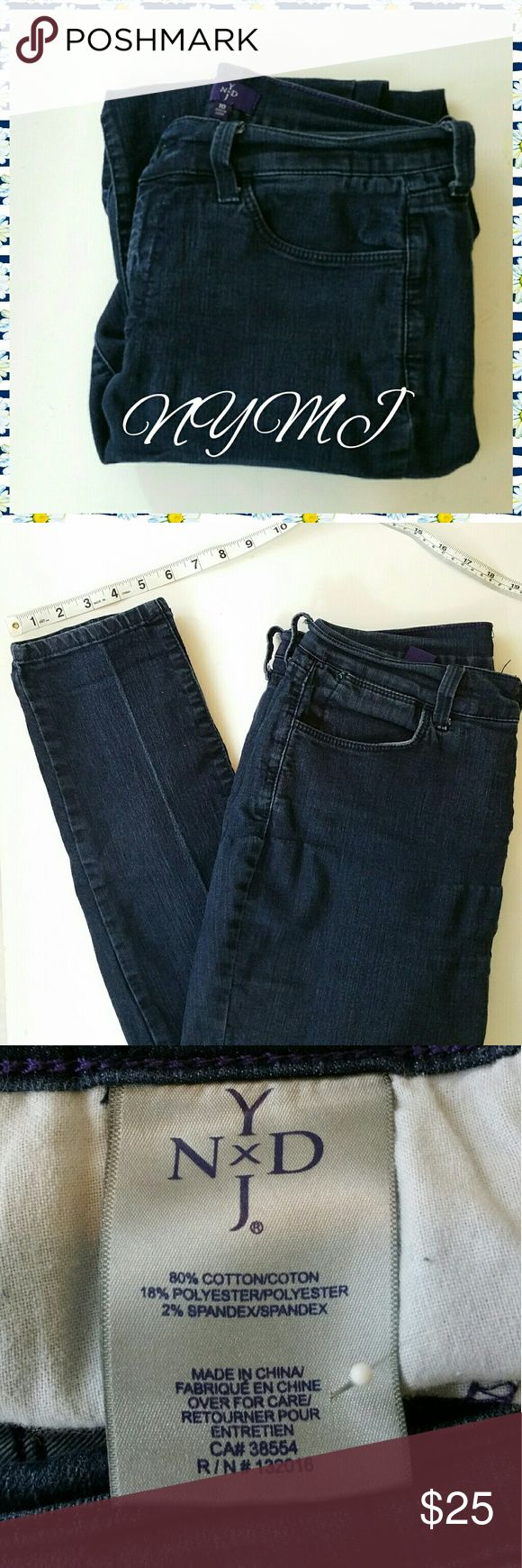 NOT YOU MOTHER'S JEANS (NYMJ), SIZE 10 ●NOT YOUR MOTHER'S JEANS (NYMJ) ●SIZE 10 ●80% cotton 16% polyester 2% spandex ●Machine wash cold inside out, line dry ●Rise measures 10 inches ●Waistband measures approximately 15.5 inches ●Inseam measures approximately 30 inches ●No flaws, tears or stains ●Non smoking home Not Your Mother's Jeans Jeans Skinny