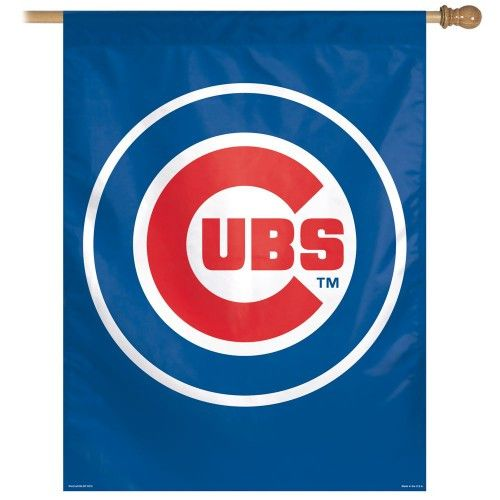 "Chicago Cubs Bullseye Vertical Flag 27"""" x 37"""""