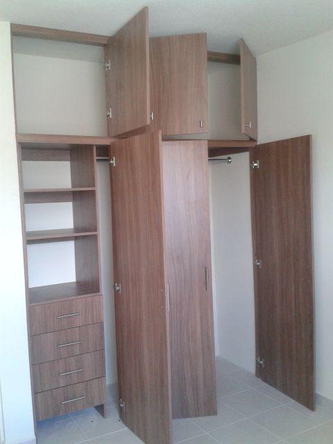 Closet en melamina nogale neo closet s pinterest - Rieles para baldas extraibles ...