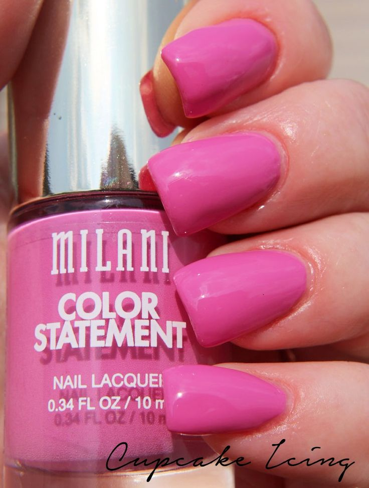 Milani Cosmetics Color Statement Nail Lacquer #milanicosmetics #milani #nailpolish See more at www.BeingMelody.com