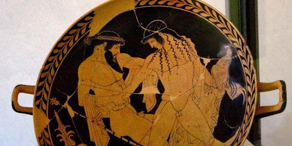 Il ratto di Ganimede -470 a.C -pittore di Pantesilea (convenzionale) -luogo di ritrovamento: -luogo di conservazione: Museo di Spina, Ferrara -Kilyx di ceramica a figure rosse