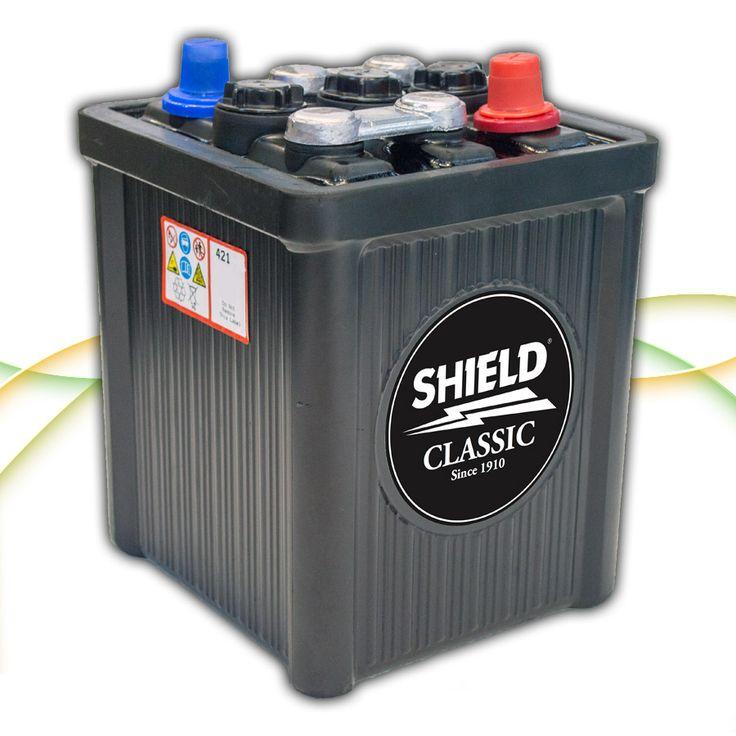 Type 421 6v Classic & Vintage Car Battery www.batterycharged.co.uk/shop/brands/shield-batteries/6v-classic-car-batteries/shield-421-6v-classic-car-ba-1050026.html