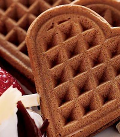 Chocolate Valentine Waffles   Krusteaz