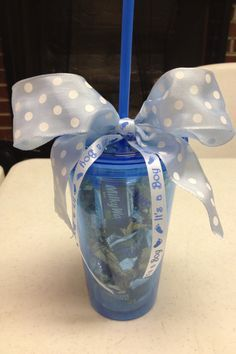 Baby shower prizes. Easy and affordable. So cute:)